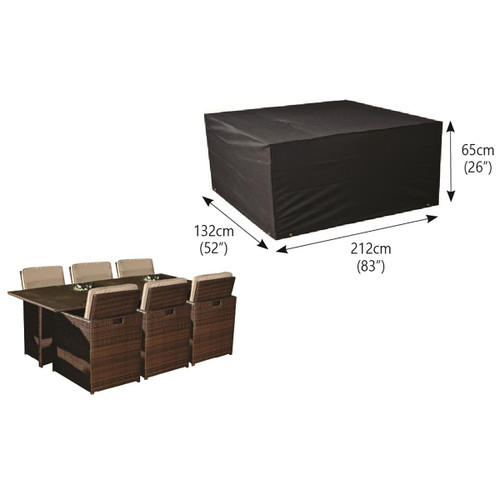 Bosmere Protector 6000 6 Seater Rectangular Cube Set Cover