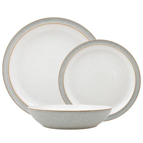 Denby Elements Light Grey 12 Piece Dinnerware Set