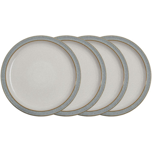 Denby Elements Light Grey 4 Piece Dinner Plate Set