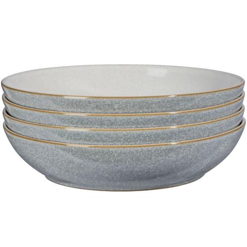 Denby Elements Light Grey 4 Piece Pasta Bowl Set