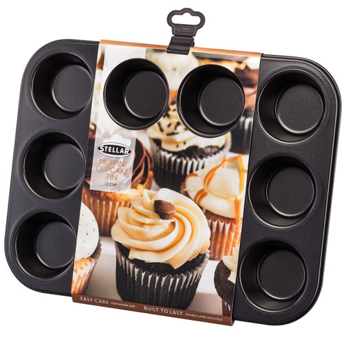 Stellar Bakeware Non-Stick Muffin/Cupcake Tin