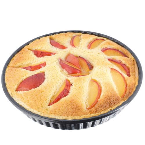 Stellar Bakeware Non-Stick Fluted Flan Tin Loose Base