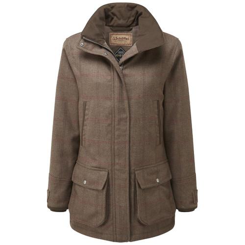 Sussex Tweed Schoffel Ladies Ptarmigan Tweed Coat