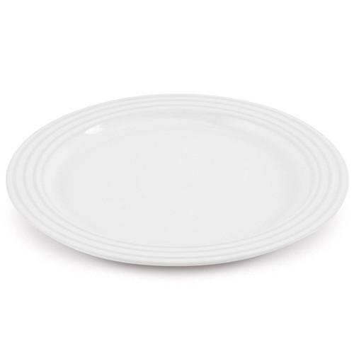 White Le Creuset Stoneware Dinner Plate