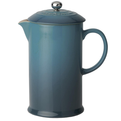 Deep Teal Le Creuset Stoneware Cafetiere With Metal Press