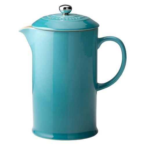 Teal Le Creuset Stoneware Cafetiere With Metal Press