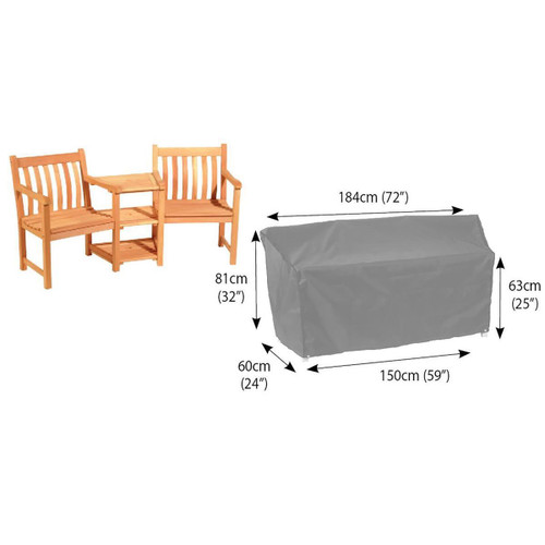 Bosmere 6000 Conversation Seat Cover Dimensions