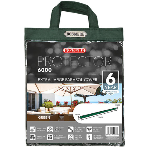 Bosmere Protector 6000 XL Parasol Cover Packaging