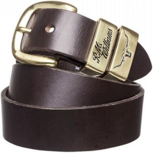 R.M. Williams Mens 3 Piece Work Belt Brass Buckle