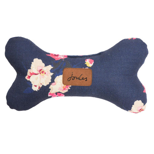 Joules Navy Floral Bone Dog Toy