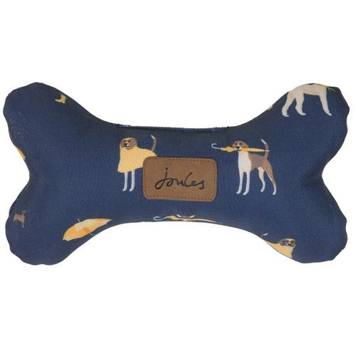 Joules Dog Print Bone Dog Toy
