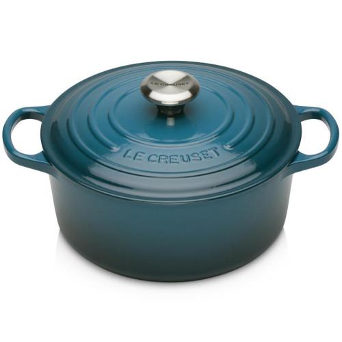 Deep Teal Le Creuset 24cm Cast Iron Round Casserole