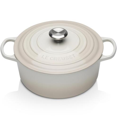Meringue Le Creuset 28cm Cast Iron Round Casserole