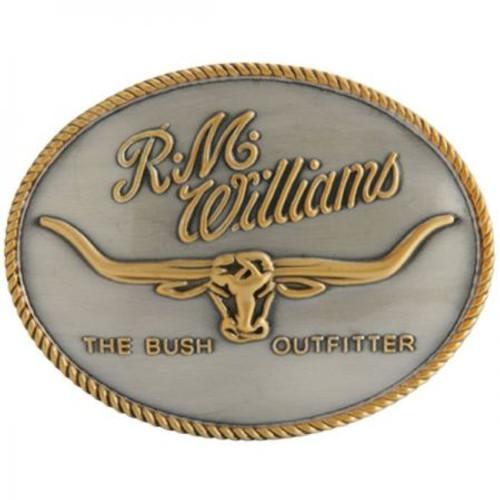 R.M. Williams Logo Belt Buckle