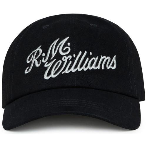 Black/Silver R.M. Williams Mens Script Cap