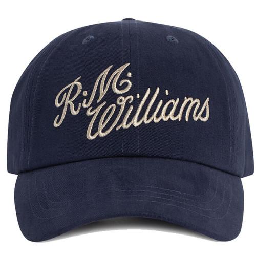 Navy/Bone R.M. Williams Mens Script Cap