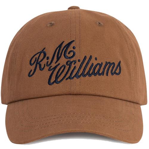 Brown/Navy R.M. Williams Mens Script Cap