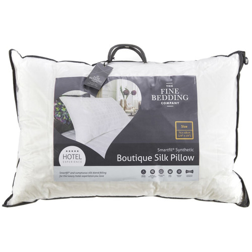 The Fine Bedding Company Boutique Silk Pillow packaging