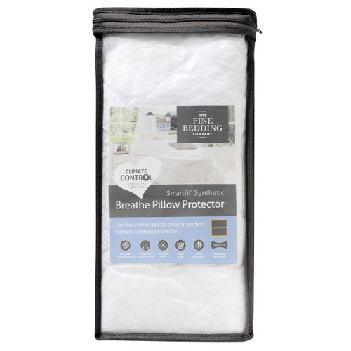 The Fine Bedding Company Breathe Pillow Protector Packaged