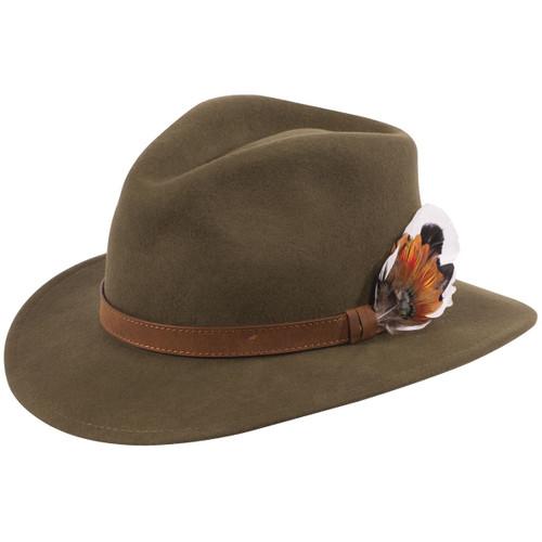 Olive Alan Paine Unisex Richmond Felt Hat