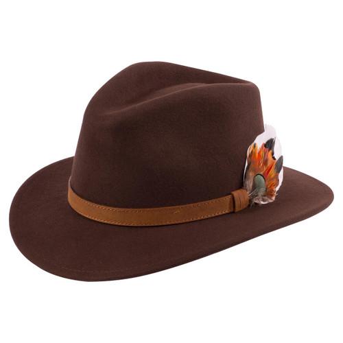 Brown Alan Paine Unisex Richmond Felt Hat