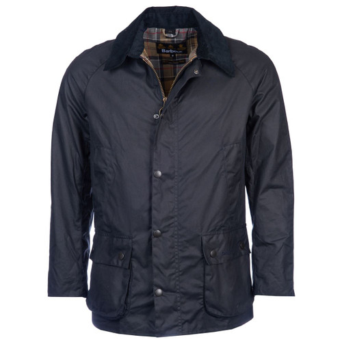 Navy Barbour Mens Ashby Wax Jacket