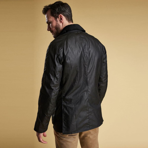 Barbour Mens Ashby Wax Jacket Rear