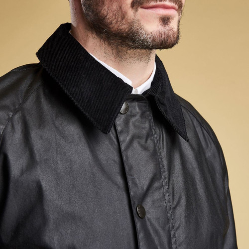 Barbour Mens Ashby Wax Jacket Collar