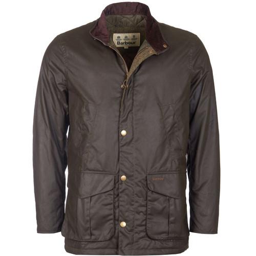 Olive Barbour Mens Hereford Wax Jacket