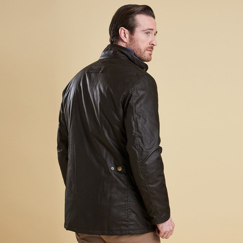 Barbour Mens Hereford Wax Jacket Rear