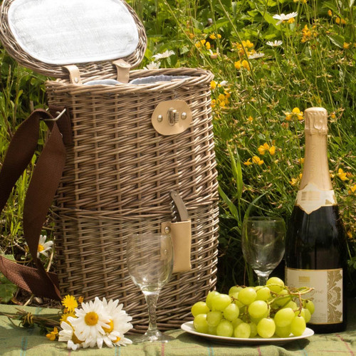 Willow Premium 2 Bottle Chilled Carry Basket