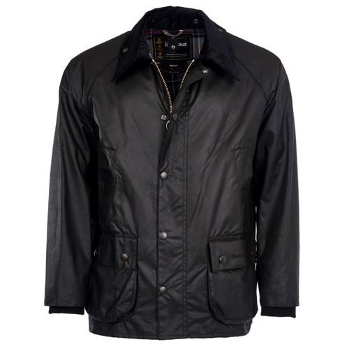 Black Barbour Mens Bedale Wax Jacket