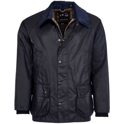Navy Barbour Mens Bedale Wax Jacket