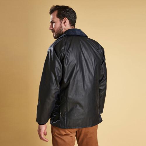 Barbour Mens Bedale Wax Jacket Rear