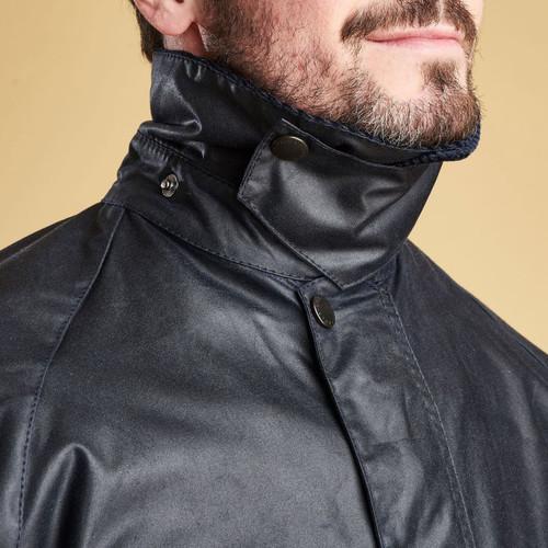 Barbour Mens Bedale Wax Jacket Collar