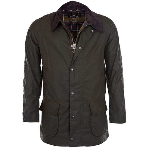 Olive Barbour Mens Bristol Wax Jacket