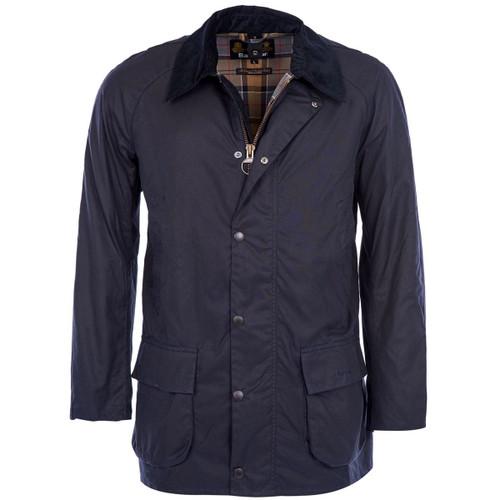 Navy Barbour Mens Bristol Wax Jacket