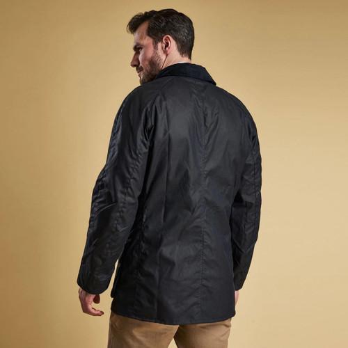 Barbour Mens Bristol Wax Jacket Rear