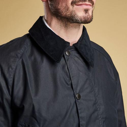 Barbour Mens Bristol Wax Jacket Collar