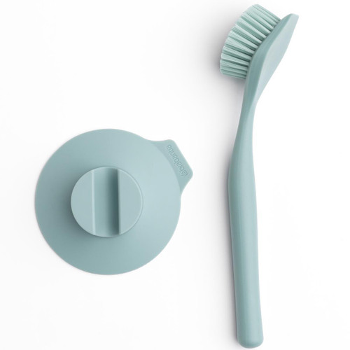Mint Brabantia Dish Brush With Suction Cup Holder