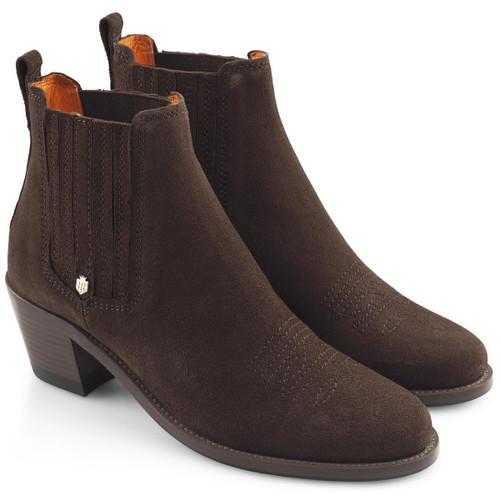 Chocolate Fairfax & Favor Womens Rockingham Ankle Boot