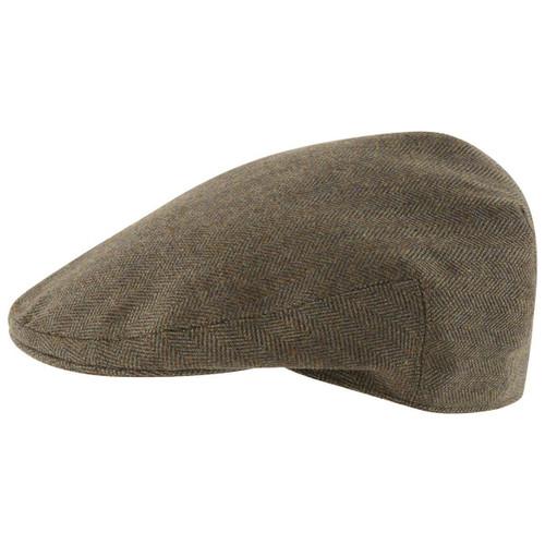 Loden Green Herringbone Tweed Schoffel Mens Countryman Tweed Cap