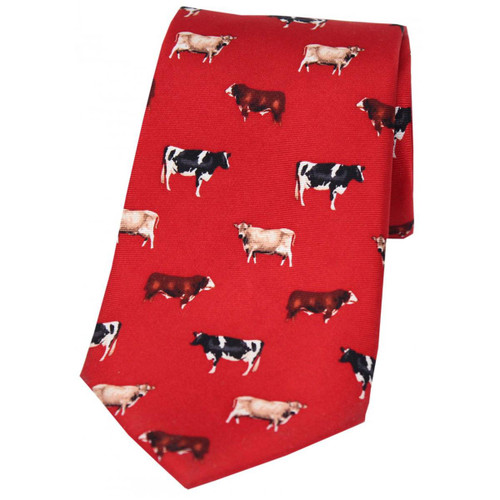 Heritage 1845 Silk Tie Cattle Red