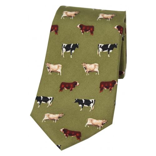 Heritage 1845 Silk Tie Cattle Green
