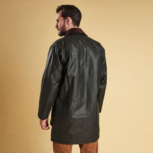 Barbour Mens Border Wax Jacket Rear