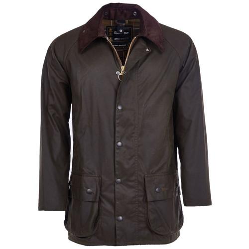 Olive Barbour Mens Classic Beaufort Wax Jacket