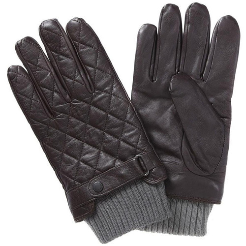 Barbour Mens Quilted Leather Glove
