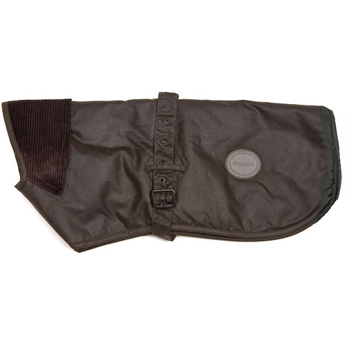 Olive Barbour Utility Wax Dog Coat