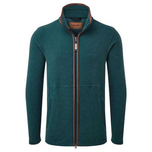 Dark Teal Schoffel Mens Cottesmore Fleece Jacket