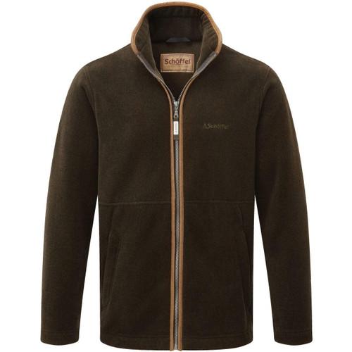 Dark Olive Schoffel Mens Cottesmore Fleece Jacket
